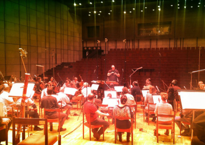"""Conducting the score Alain orchestrated for """"Dead Snow II"""" in Bratislava"""